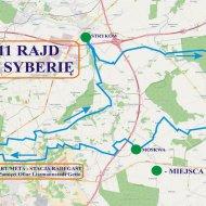 Mapa 11.rajdu rowerowego PŁ.