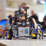 Roboty podczas zawodów. Fot. Arch. organizatorów.