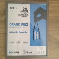 Dyplom Grand Prix dla Aleksandry Kozłowskiej z PŁ w konkursie KOŁO. Foto.  Maciej Kacprzak