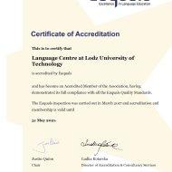 Certyfikat Centrum Językowego PŁ