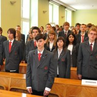 Uczniowie PLO PŁ na inaugracji w 2017 r. Foto. Jacek Szabela