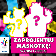 Grafika reklamująca konkurs na Moskotkę EUSA Games 2020