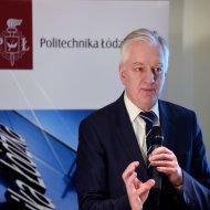 Minister Jarosław Gowin na PŁ, wręczył stypendia najlepszym studentom. Foto: Jacek Szabela.