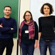 Nagroda zespołowa MNiSW z Instytutu Fizyki PŁ od prawej - prof. Katarzyna Pernal, dr inż. Ewa Pastorczak, dr Michał fot. Jacek SzabelaHapka