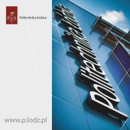 Okładka folderu informacyjnego o Politechnice Łódzkiej.