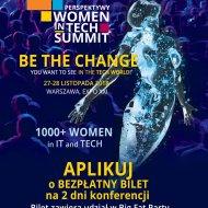 Plakat na konferencję Perspektywy Women in Tech Summit