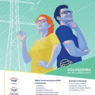 Plakat konkursu Energia Innowacji.