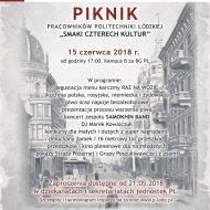 Plakat na Piknik Pracowników PŁ.