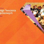 Plakat promujący konkurs Zespołowego Tworzenia Gier Komputerowych.
