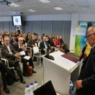 Wystąpienie rektora PŁ prof. S.Wiaka, podczas konferencji na PŁ. fot. Jacek Szabela