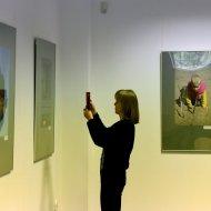 Podczas wernisażu w Galerii Biblio-Art PŁ. fot. Jacek Szabela