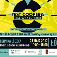 Plakat zapowiadający Test Coopera. Maj 2017.