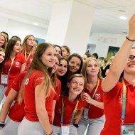 uczestnicy Akademickich Mistrzostw Świata w unihokeju na PŁ. Foto. Jacek Szabela