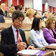 Uczestnicy konferencji o podwójnych dyplomach w IFE PŁ. fot. Jacek Szabela