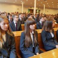 Uczniowie PLO PŁ podczas inauguracji roku szkolnego 2019-2020, fot. Jacek Szabela