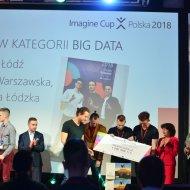Zespół Wavy z PŁ podczas konkursu Microsoft Imagine Cup 2018.