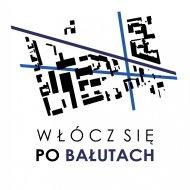 """Logo akcji """"Włócz się po Bałutach""""."""