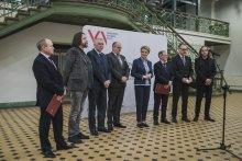 Briefing prasowy z udz. rektora PŁ w EC1
