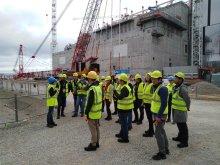 Piotr Perek na placu budowy ITER