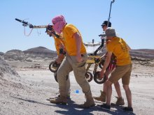 Raptorsi podczas wykonywanych zadań na Univeristy Rover Challenge w USA. fot. Archiwum PŁ.