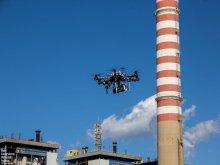 Robot latający z PŁ podczas zawodów we Włoszech.
