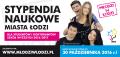 Plakat promujący program Stypendia Naukowe Miasta Łodzi