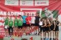 Zwycięska sztafeta 4x400m w składzie (L) Mateusz Rzeźniczak, Mateusz Wójcik, Jędrzej Hasiura i Kajetan Duszyński