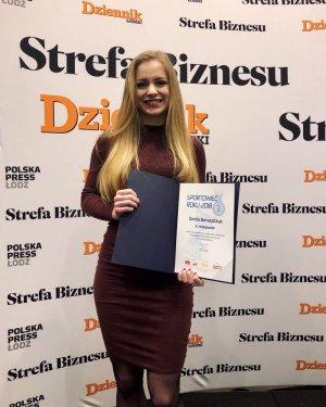Dorota Banaszczyk, studentka PŁ, laureatka 2. miejsca w plebiscycie Sportowaca Roku, foto. Archiwum D.B.