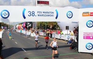 Na mecie Maratonu Warszawskiego - 2016, fot. arch. prywatne