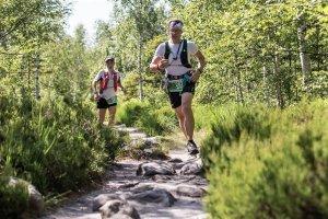 prof. J. Jachymski podczas supermaratonu Gór Stołowych - 54 km (2019 r.) fot. arch. prywatne