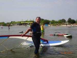 Professor Krzysztof Jóźwik after riding the waves