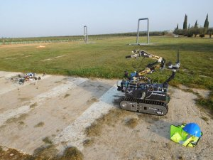 Robot z PŁ na zawodach European Robotic League Emergancy 2019 foto. Archiwum Raptors