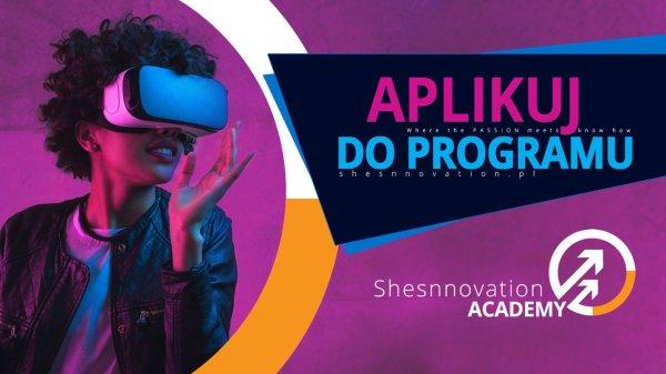 baner promujący projekt SHESNNOVATION Academy