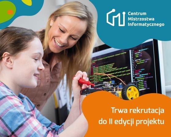 Grafika promująca projekt Centrum Mistrzostwa Informatycznego