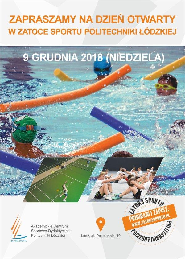 Plakat - Dzień Otwarty w Zatoce Sportu PŁ