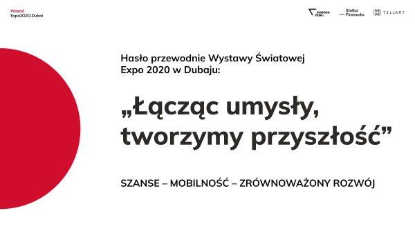 Grafika do polskiej ekspozycji na wystawie EXPO 2020