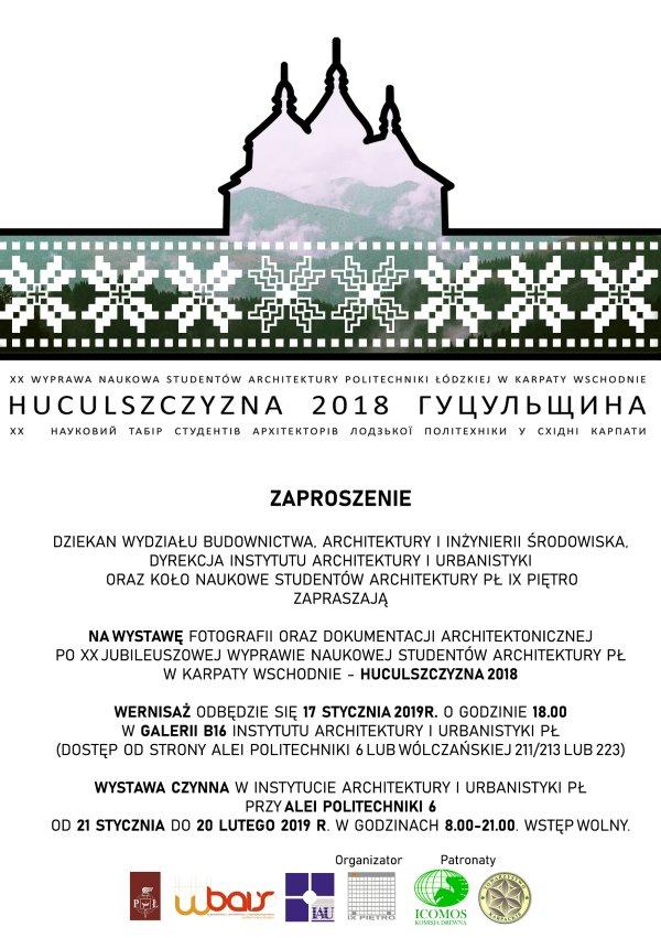 Zaproszenie na wystawę studentów architektury PŁ - Huculszczyzna