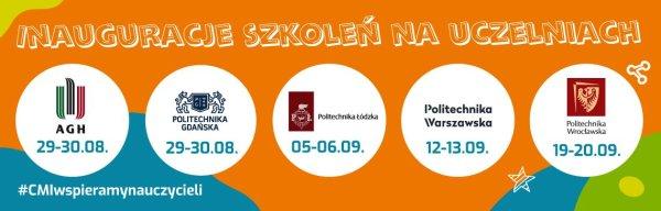 Baner promujący 2. edycję projektu Centrum Mistrzostwa Informatycznego