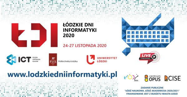 baner reklamujący Łódzkie Dni Informatyki