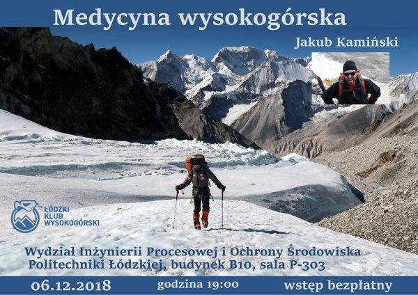 Medycyna wysokogórska - spotkanie na PŁ_plakat