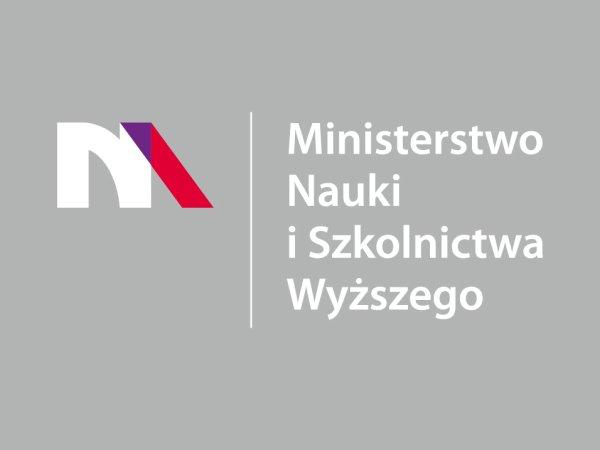 Logo ministerstwa nauki i szkolnictwa wyższego.