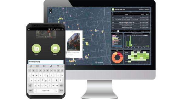grafika mobile alert