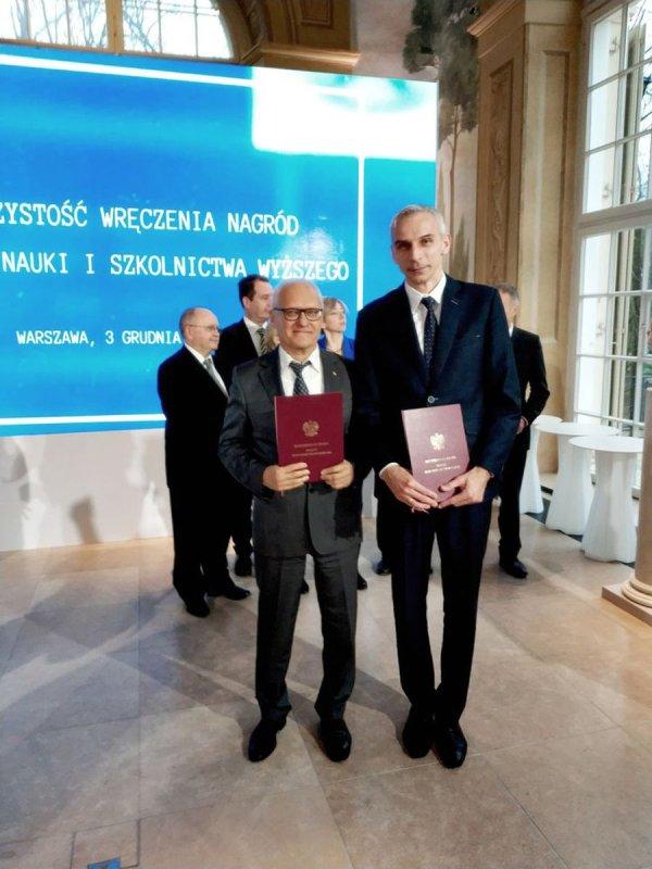 Prof. Jan Awrejcewicz i dr hab.inż. Paweł Olejnik, fot. Przemysław Blechman, MNISW