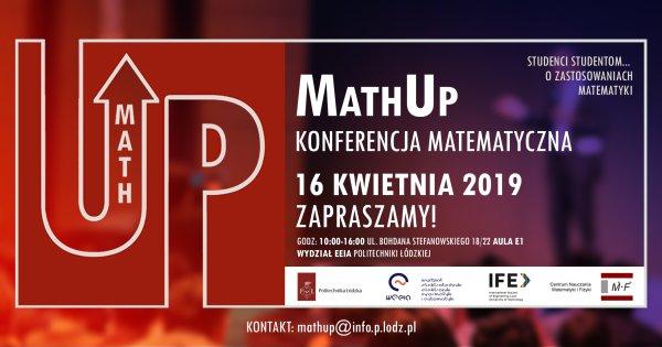 Zaproszenie na konferencję MathUp na PŁ