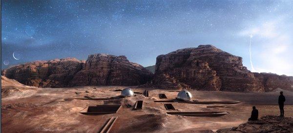Wizaulizacja projektu ośrodka badawczego w Wadi Rum w Jordanii autor:Anna Jaruga-Rozdolska