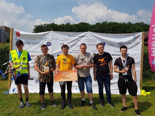 Zespół Raptors z PŁ zajął III miejsce w droniadzie 2019, foto. Arch. Raptors