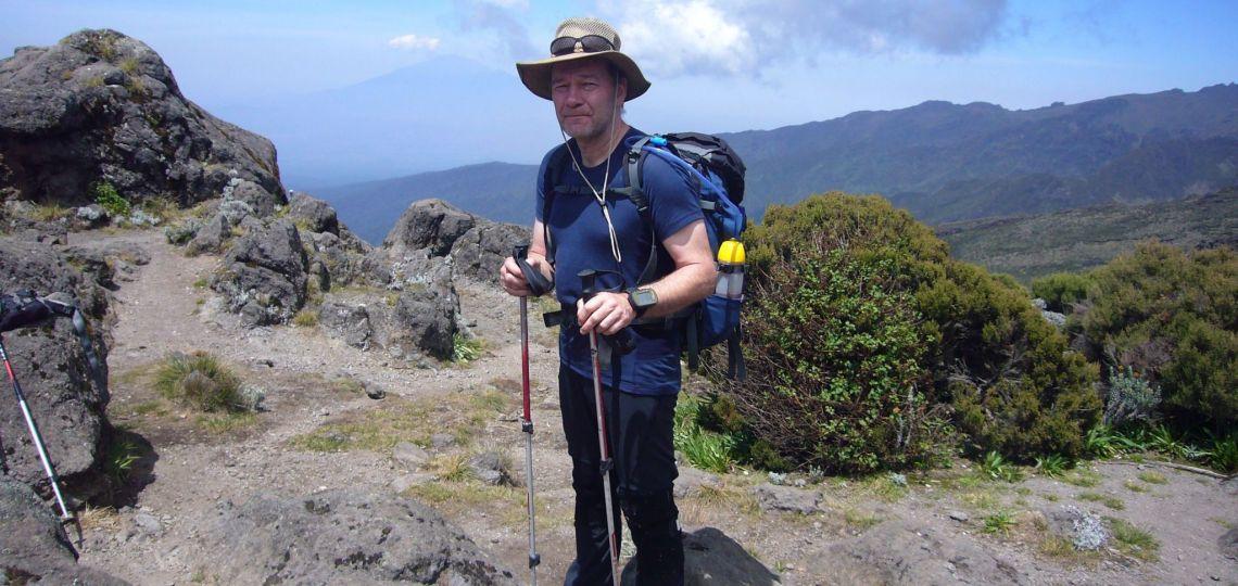 prof. J.Banasiak w drodze na Kilimandżaro, fot. arch. prywatne