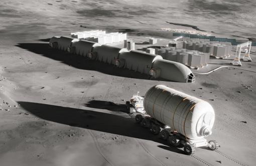 Baza Xors na Księżycu zaprojektowana przez zespół Innspace