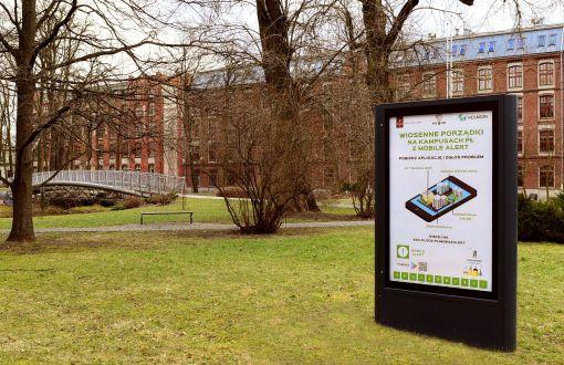 Wiosenne porządki na PŁ z aplikacją Mobile Alert, fot. Jacek Szabela.