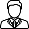 Icon: black filled outlines of three figures.